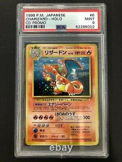 1998 P. M. Jap Charizard Holo PSA 9 Mint #6 CD Promo Card Japanese Rare Pokemon 6