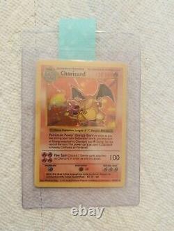 1999 Base Set SHADOWLESS Charizard HOLO 4/102 Pokemon Card Green Wings