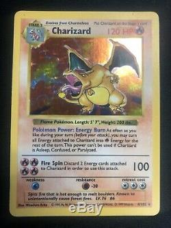 1999 Base Set SHADOWLESS Charizard HOLO 4/102 Pokemon Card Rare NM/M Very Nice
