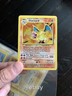 1999 Base Set Vintage Binder Pokemon Card Set Complete Holo Charizard Pikachu