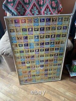 1999 Framed Pokemon Fossil 110-Card Uncut Holo Rare Sheet. Perfect Condition