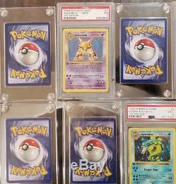 1999 Pokemon 1st Edition Shadowless Base Set 28 Card Lot PSA 10