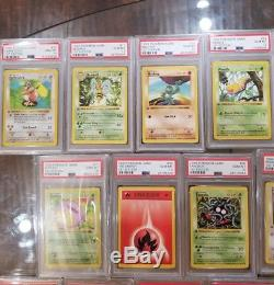 1999 Pokemon 1st Edition Shadowless Base Set PSA 10 37 Card Lot