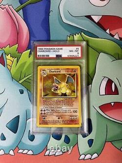 1999 Pokemon Base Set Charizard Unlimited Holo 4/102 Psa 8 Nm Mint Rare Card