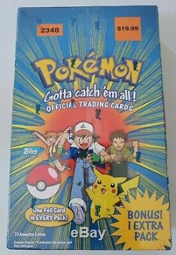 1999 Pokemon Topps Trading Cards Booster Box Set 2348 NEW 11 packs RARE