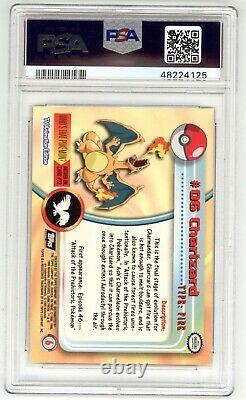 1999 Topps Pokemon Tv Charizard #6 Foil Card Psa 10 Gem Mint Rare- Low Census Nr