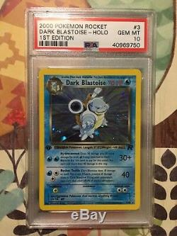 1st Ed Dark Blastoise Holo Rare Pokemon Card 3/82 Rocket Set PSA 10 GEM MINT