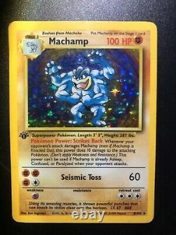 1st Edition Machamp 8/102 Holographic Base Set Pokemon Card Ultra Rare