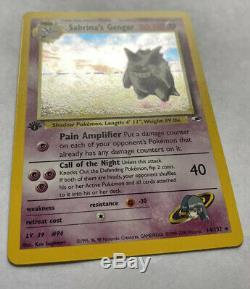 1st Edition Sabrina's Gengar Holo Rare Pokemon Card Mint Gym Heroes 14/132 Wotc