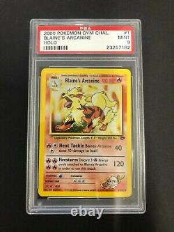 2000 Blaine's Arcanine Holo PSA 9 Mint #1/132 Gym Challenge Pokemon Card #1 Chal