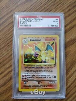 2000 Pokemon Card Game Base Set 2 Charizard 4/102 Rare Holo PSA 9 MINT