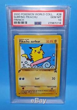2000 Pokemon PIKACHU World Collection 9 card Complete Graded Set All PSA-10 GM