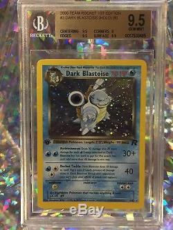 2000 Pokemon Team Rocket 1st Edition Dark Blastoise Holo Rare Card BGS 9.5