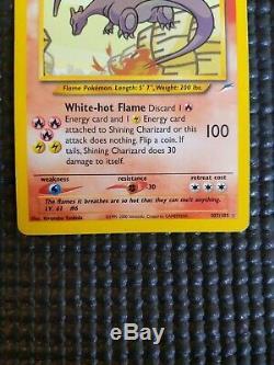 2000 SECRET RARE Shining Charizard 107/105 Holo Foil Pokemon Card Vintage LP