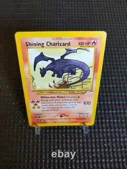 2000 SECRET RARE Shining Charizard 107/105 Holo Foil Pokemon Card Vintage MP