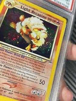 2002 Neo Destiny Pokemon Card Light Arcanine 12/ 1st Edition PSA 10 Gem M SWIRL