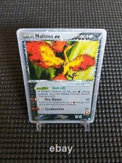 2004 Moltres ex 100/109 EX Team Rocket Returns Holo Rare Vintage Pokemon Card