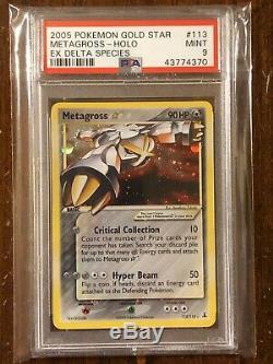 2005 Pokemon Card EX Delta Species Metagross Gold Star Holo Ultra Rare 113 PSA 9