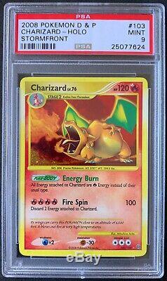 2008 Pokemon Card Charizard Stormfront Secret Rare 103/100 PSA 9 MINT
