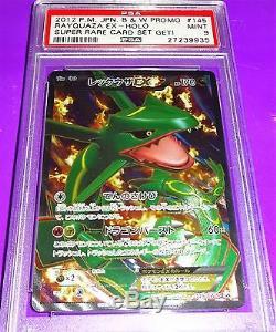 2012 Pokemon Rayquaza Ex Holo B & W Promo Super Rare Card Set Get! Psa 9