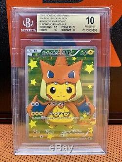 2016 Pokemon Poncho Pikachu Charizard 208 Card BGS Beckett Pristine 10 Mint Rare