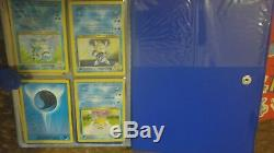 3 mini pokemon card binders lot with partial complete base set 1st eds holos +LOOK