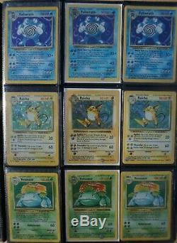 3x COMPLETE Original Pokemon Card BASE SET! Rare 1st Ed, Shadowless & Unlimited