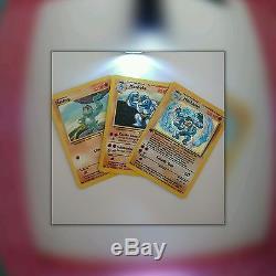 ALL 3 EVOLUTION COLLECTION Machop Machoke & RARE HOLO Machamp Pokemon Cards