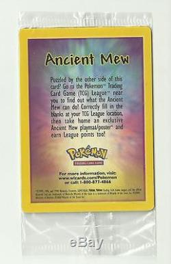 Ancient Mew Factory Sealed Rare Holo Limited Edition Card Pokemon Movie 2000