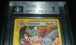 BGS 9 MINT Charizard 146/144 Skyridge Set Crystal HOLO RARE Pokemon Card