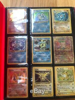 Base set Pokemon Cards Over 20 Rare Holos Including Charizard And Blastoise