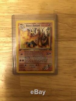 Blaine's Charizard 2/132 Gym Challenge Holo Rare 1st Edition Pokemon Card NM/M