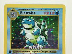 Blastoise 1st First Edition Shadowless Rare Pokemon Card Base Set 2/102 English