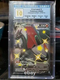 CGC 10 Pokemon Champions Path Secret Rare Shiny Charizard V Card 79/73 079/073