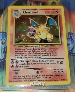 CHARIZARD 4/102 Holo Rare Base Set Pokemon Card EXCELLENT CONDITION