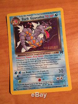 COMPLETE 1st edition Pokemon TEAM ROCKET Card Set 83/82 Holo Rare Dark Charizard