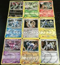 COMPLETE Arceus 9 Card Set AR1-AR9 Holo Rare Ripple Foil Pokemon Platinum LP