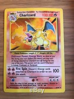 Charizard (4/102) Base Set Holo Pokemon Card. Rare! FAST & FREE P&P