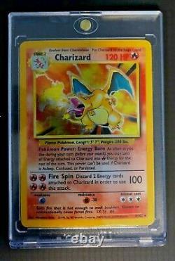 Charizard 4/102 Rare Holo Pokemon Card. Base Set. WOTC. Possible PSA