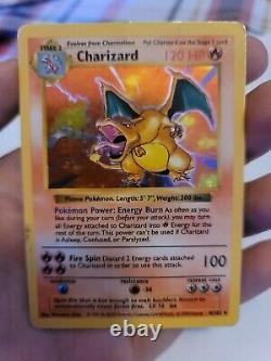 Charizard 4/102 SHADOWLESS Holo 1999 Pokemon Base Set Rare Holographic Card