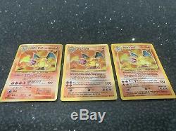 Charizard Bundle Shadowless Base Holo wotc 1999 Rare Pokemon Cards