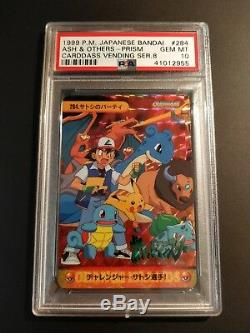 Charizard Dragonite Gengar Pikachu Carddass Bandai Pokemon Cards PSA 10 Prism