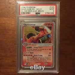 Charizard EX Holo Rare 2004 Pokemon Card 105/112 Fire Red Leaf Green PSA 9 MINT