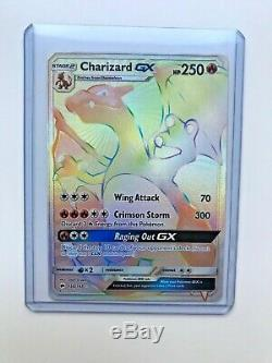 Charizard GX Hyper Rare Burning Shadows 150/147 Rainbow Rare Pokemon Card