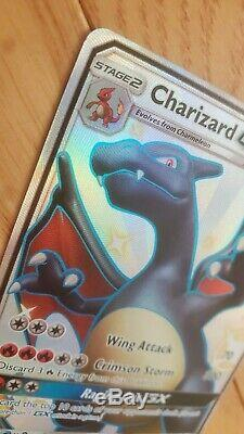 Charizard GX SV 49/SV94- Pokemon Hidden Fates Shiny Full Art Card