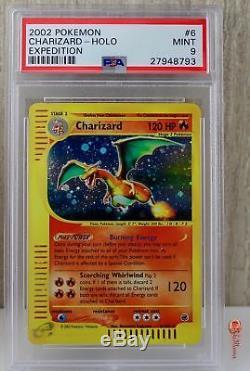 Charizard Holo Rare 2002 Pokemon Card 6/165 Expedition Set PSA 9 MINT