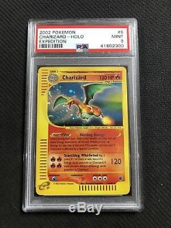 Charizard Holo Rare 2002 Pokemon Card 6/165 Expedition Set PSA 9 MINT #41802300
