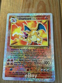 Charizard Reverse Holo Rare 2002 Legendary Collection Pokemon Card 3/110