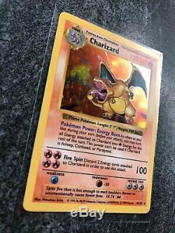 Charizard Shadowless 4/102 Pokemon Card Base Set Holo Rare Mint WOTC 1999