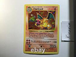 Charizard Shadowless Base Set 4/102 Rare Holo Foil Pokemon Card WOTC English